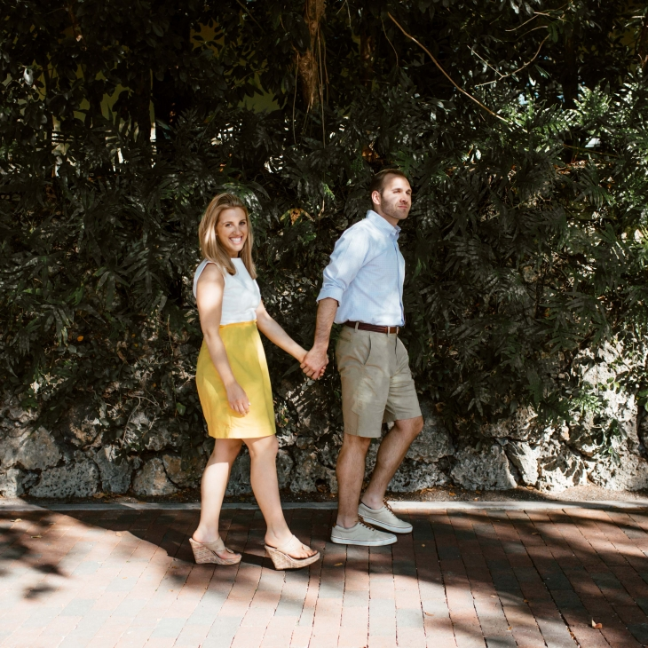 coconut grove engagement session